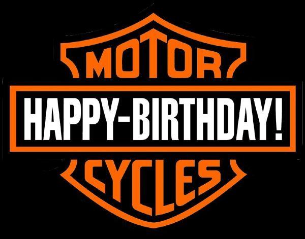 Harley Davidson clipart birthday Birthday harley Harley Motorcycle: Happy