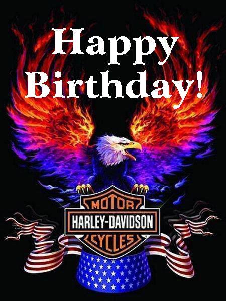 Harley Davidson clipart birthday N on Pinterest Harley Eagle