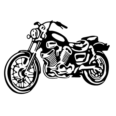 Honda clipart black and white Motorcycle Flourishes and and art