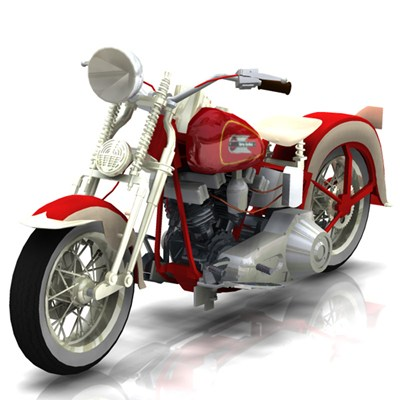 Harley Davidson clipart cartoon 1936 &  Harley Vue)