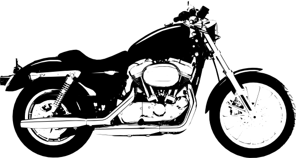 Harley Davidson clipart cartoon A Cartoon art clip Clip