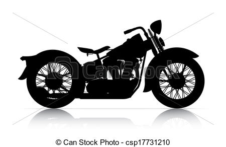 Harley Davidson clipart classic motorcycle Ground onwhite Harley of and