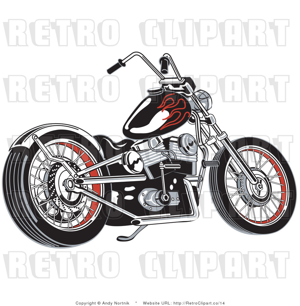 Harley Davidson clipart classic motorcycle Girl Harley and Illustration Clipart