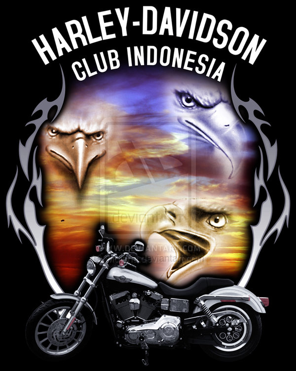Harley Davidson clipart classic motorcycle By HARLEY widjana Eagle Harley
