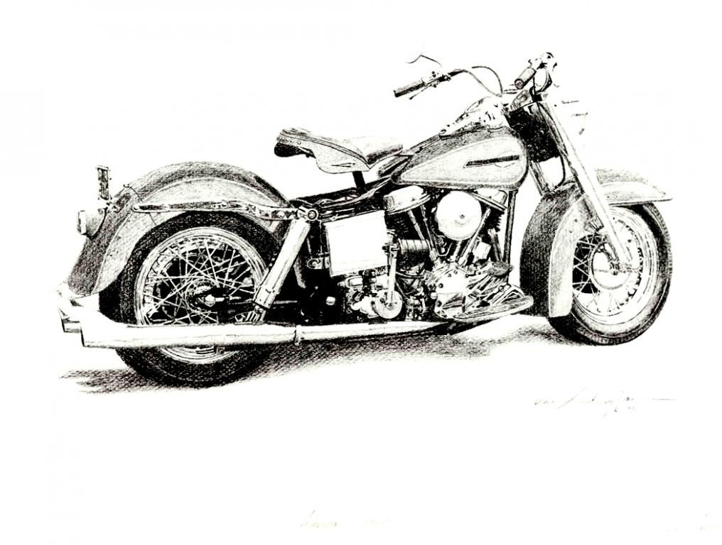 Harley Davidson clipart classic motorcycle Motorcycle classic Art 1965 Harley
