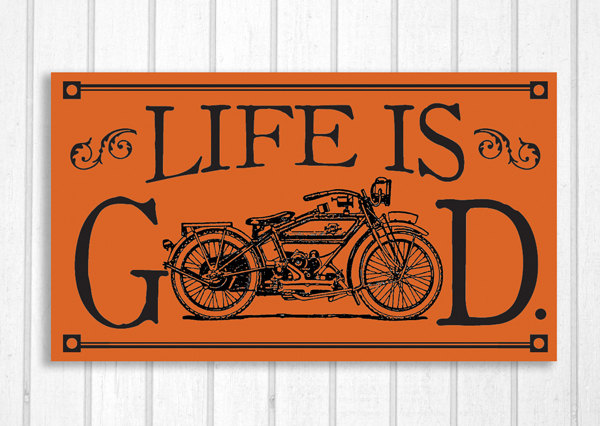 Harley Davidson clipart classic motorcycle Is Sign Good Davidson Etsy