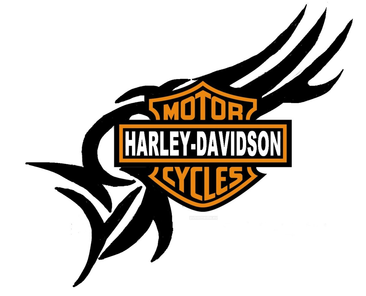 Harley Davidson clipart cycle #5