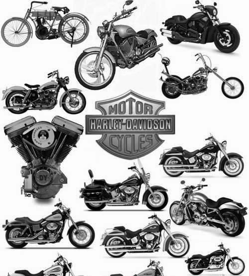 Harley Davidson clipart cycle #3
