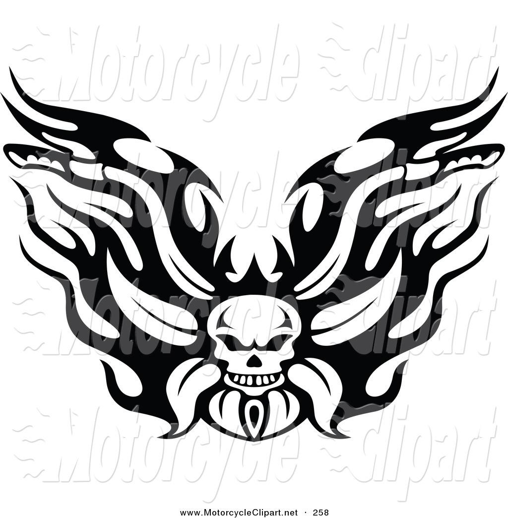 Harley Davidson clipart emblems Black White Tribal Clipart Clipart