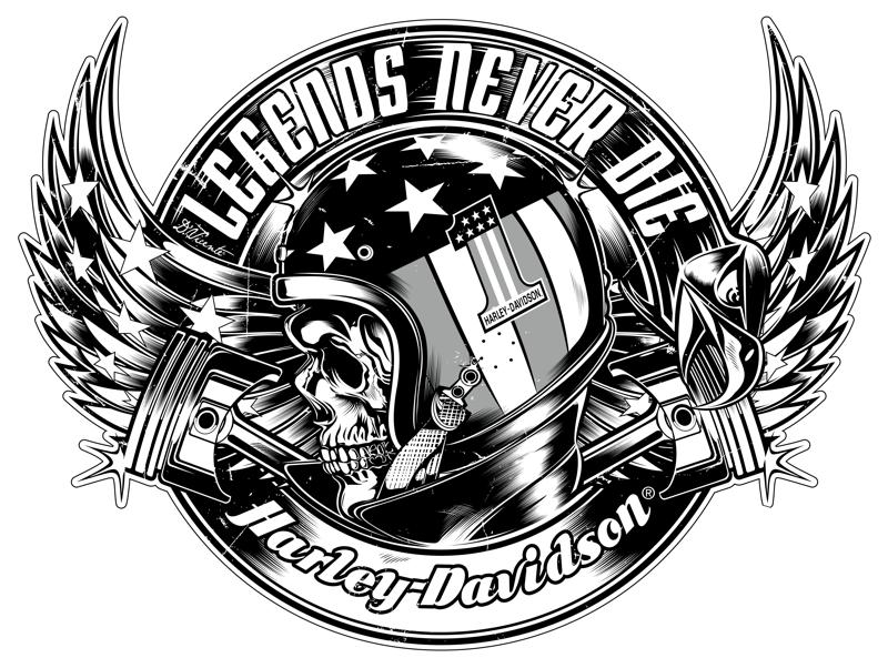 Harley Davidson clipart emblems Portfolio ART COM  DVICENTE