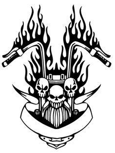 Harley Davidson clipart emblems Bing Pinterest silhouette Stencil Patterns
