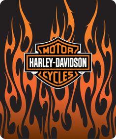 Harley Davidson clipart flame drawing Logo  Flames Davidson Logo