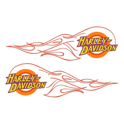 Harley Davidson clipart flame drawing Flames Davidson DIY  Logo