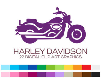 Harley Davidson clipart ipad Clipart Fathers Etsy Invitation Motorcycle