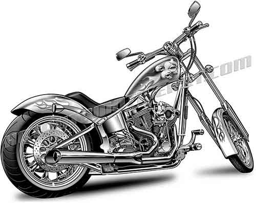 Harley Davidson clipart motorcycle chopper #4