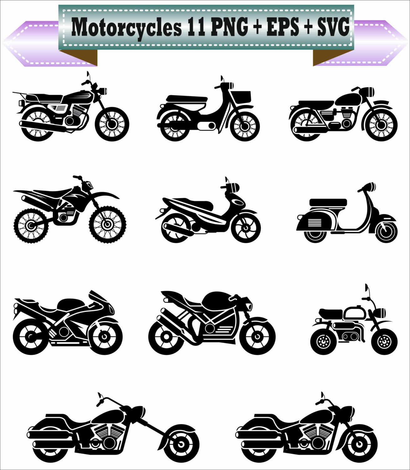 Harley Davidson clipart motorcycle chopper Bike Silhouette Supplies Bike Clip