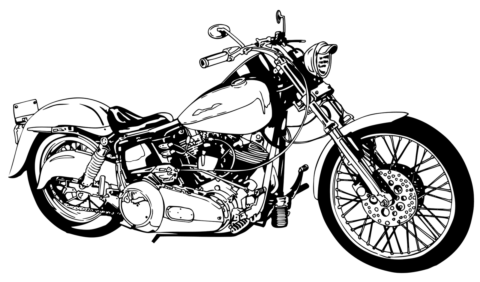 Harley Davidson clipart motorcycle chopper #5