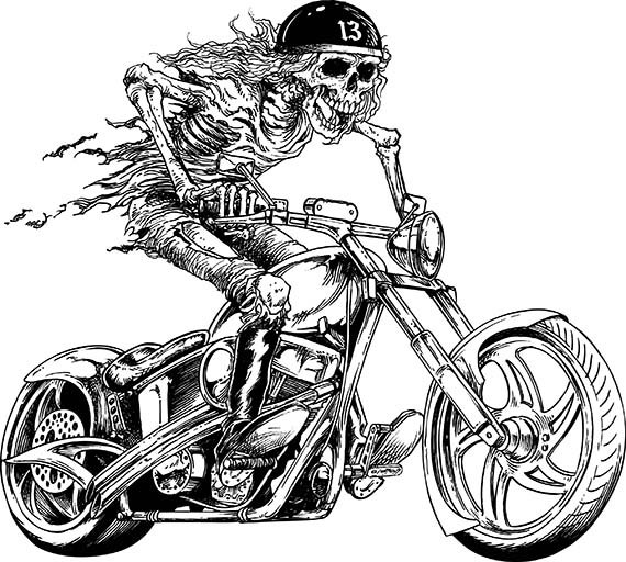 Harley Davidson clipart motorcycle chopper #11