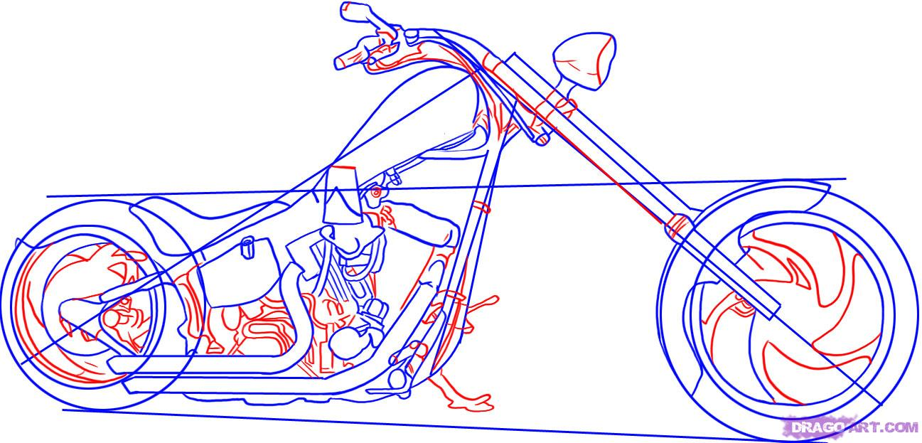 Harley Davidson clipart motorcycle chopper Step  a davidson chopper