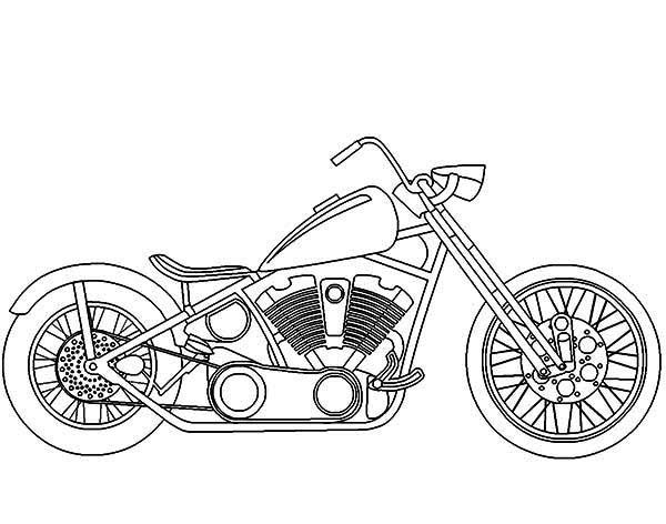 Harley Davidson clipart old motorcycle Coloring Print Davidson Pages :