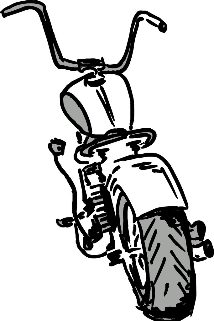 Harley Davidson clipart outline Cartoon harley on xl clipart