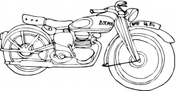 Harley Davidson clipart outline This image Free Harley vector
