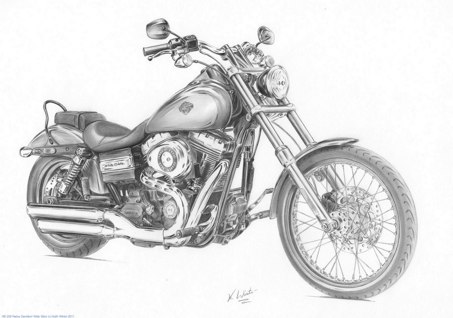 Harley Davidson clipart pencil sketch Of white's paintings davidson motorcycles