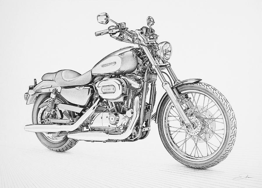 Harley Davidson clipart pencil sketch Davidson drawing harley davidson Harley