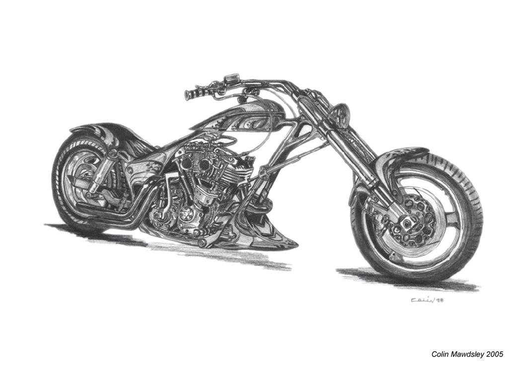 Harley Davidson clipart pencil sketch Blog: ~ Biker June Harley