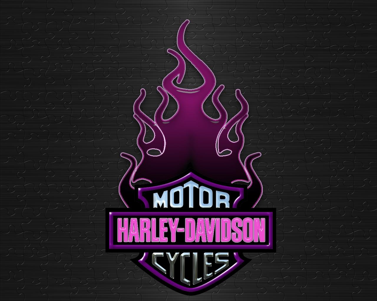 Harley Davidson clipart pink Logo WallpaperMine Purple Davidson com