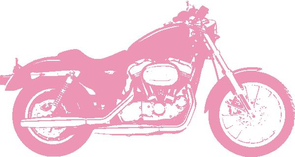 Harley Davidson clipart pink Vector online at com Art