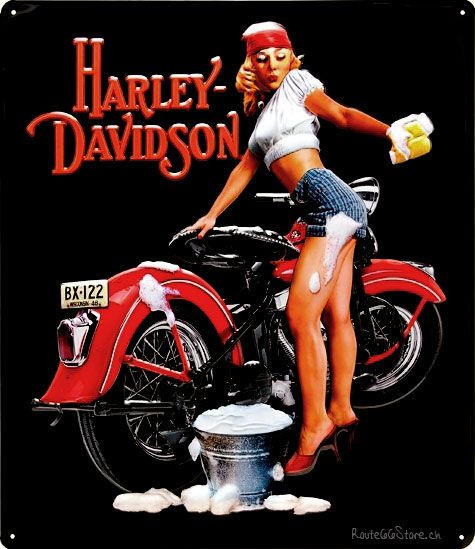 Harley Davidson clipart red motorcycle Clipart Harley  chick Motorcycle