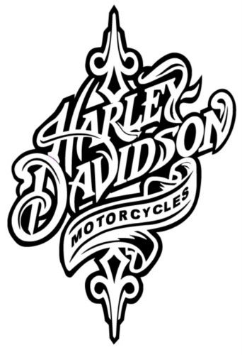 Torch clipart harley HD Davidson Harley silhouette burning/circuit
