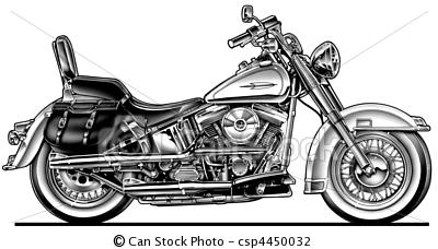 Harley Davidson clipart sketch Photography illustration Motorcycle Hawg Stock