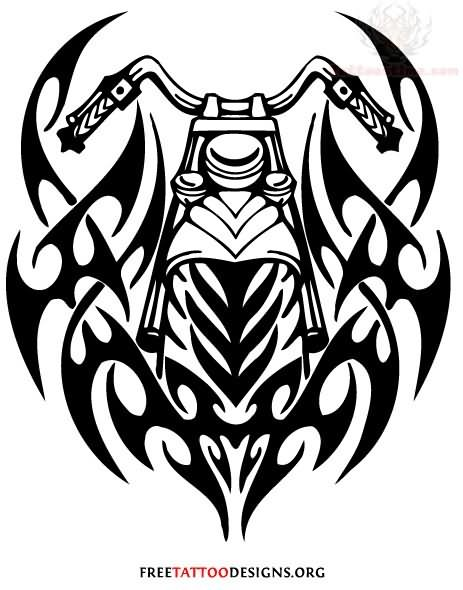 Harley Davidson clipart sketch Motorcycle Biker Tribal is Tattoo