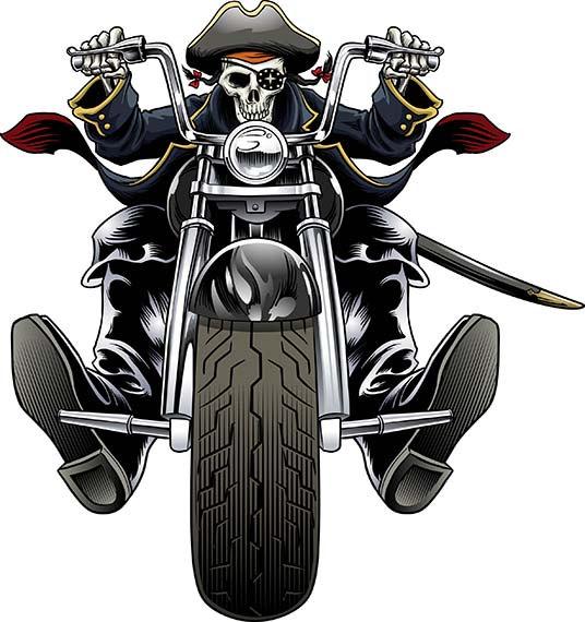 Biker clipart skeleton Clip Halloween skull skeleton Davidson
