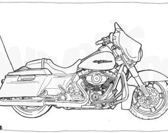 Harley Davidson clipart street glide Page Coloring Davidson Glide Street