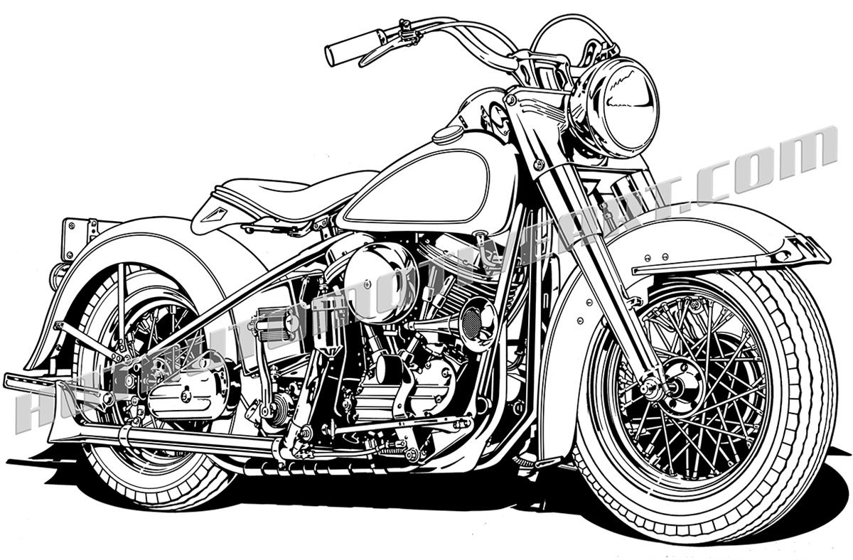 Vintage Clip Motorcycle Vintage Clipart