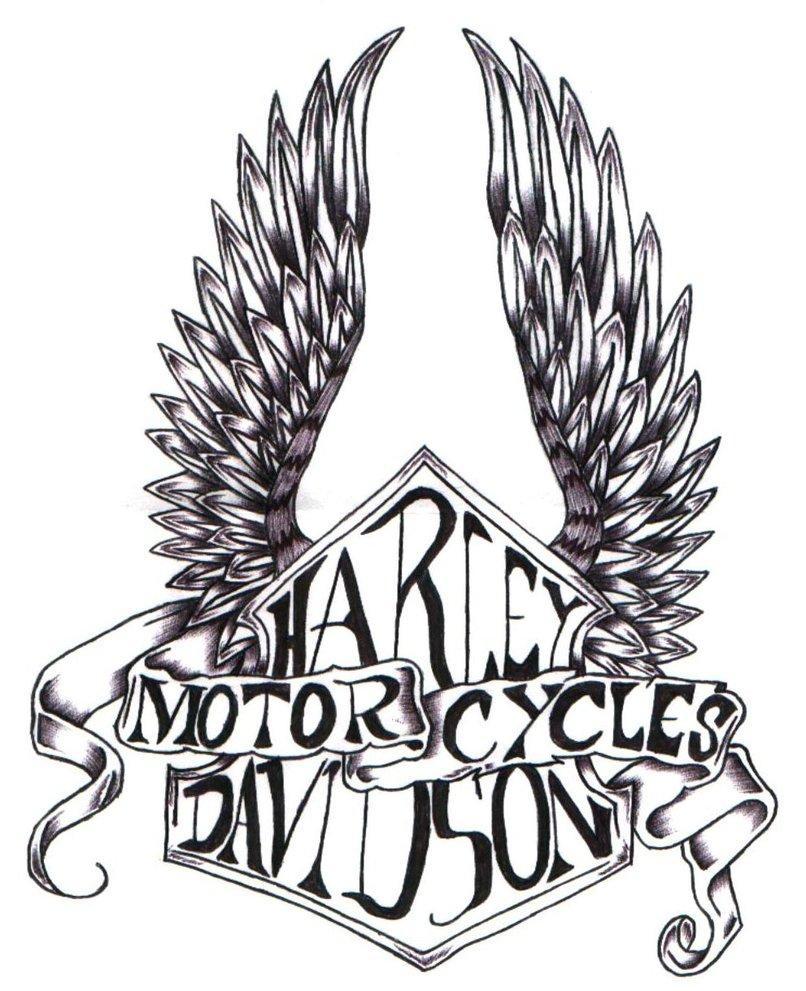 Harley Davidson clipart wing #9
