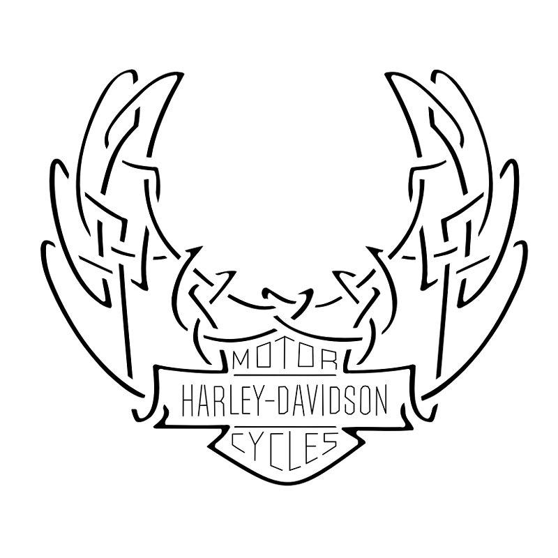 Harley Davidson clipart wing #11