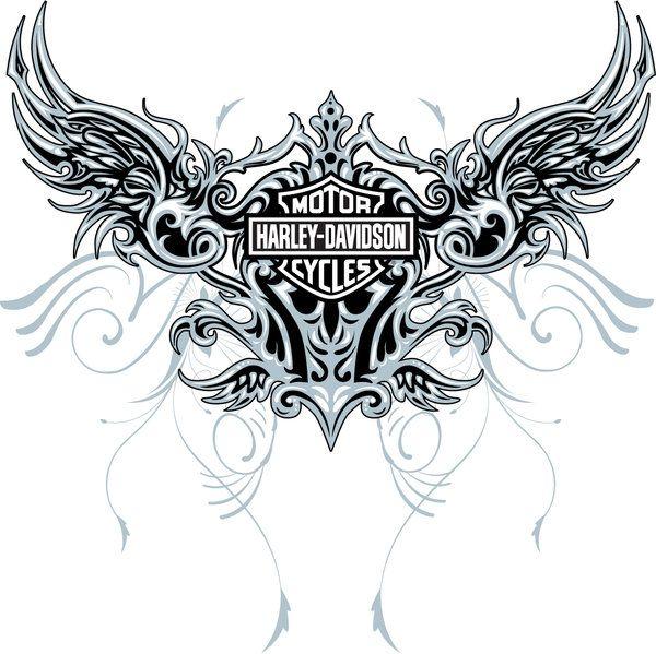 Harley Davidson clipart wing #1