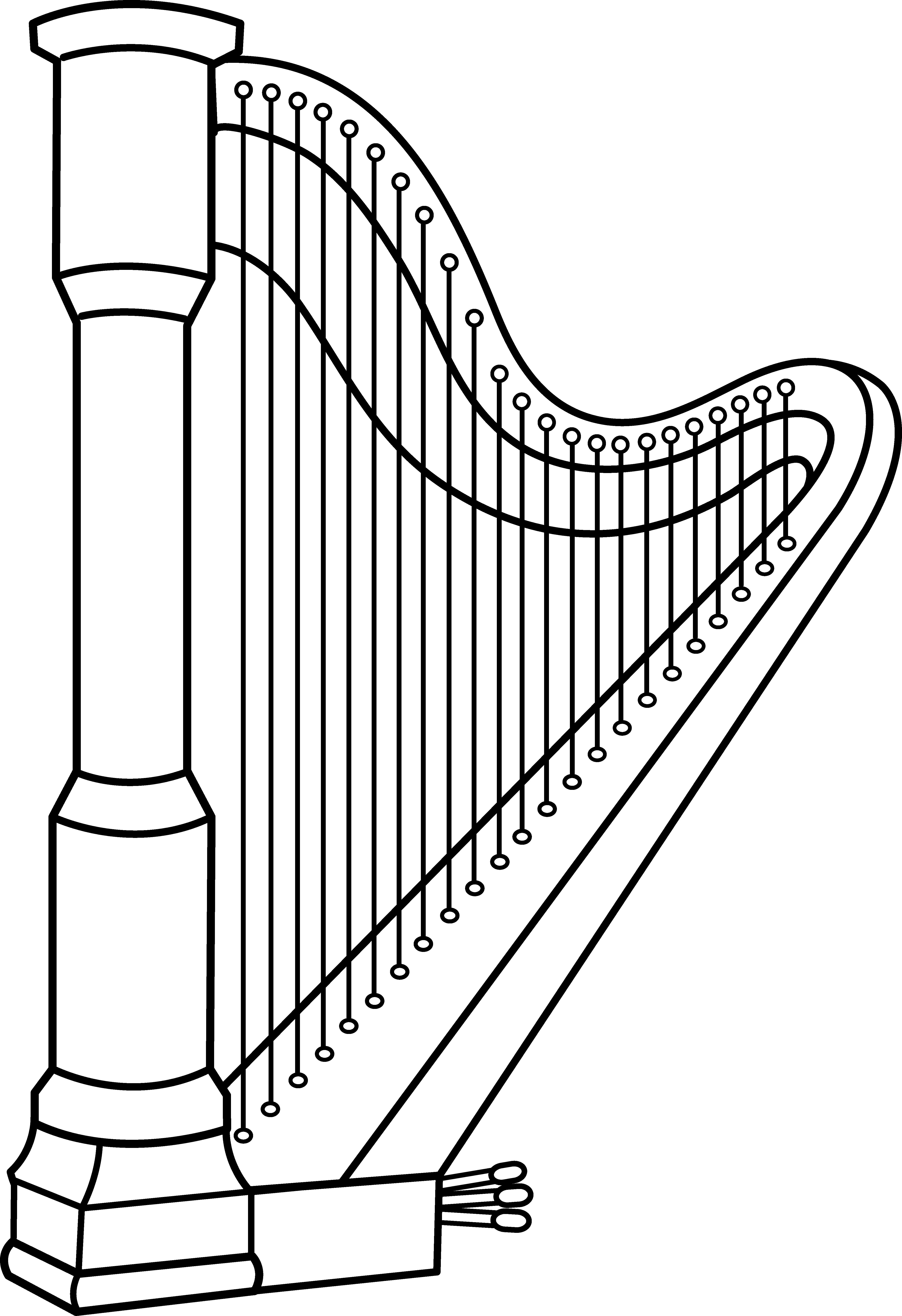 Harp clipart ClipartBarn free Harp clipart art
