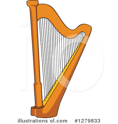 Harp clipart string instrument Vector Illustration by Tradition by