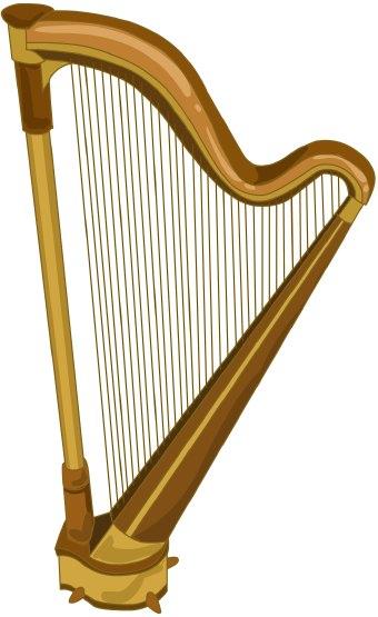 Harp clipart Art clip  Harp