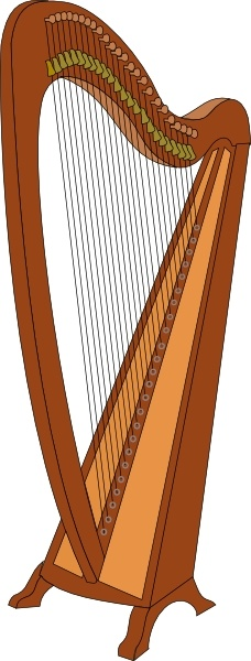 Harp clipart Vector art vector svg (