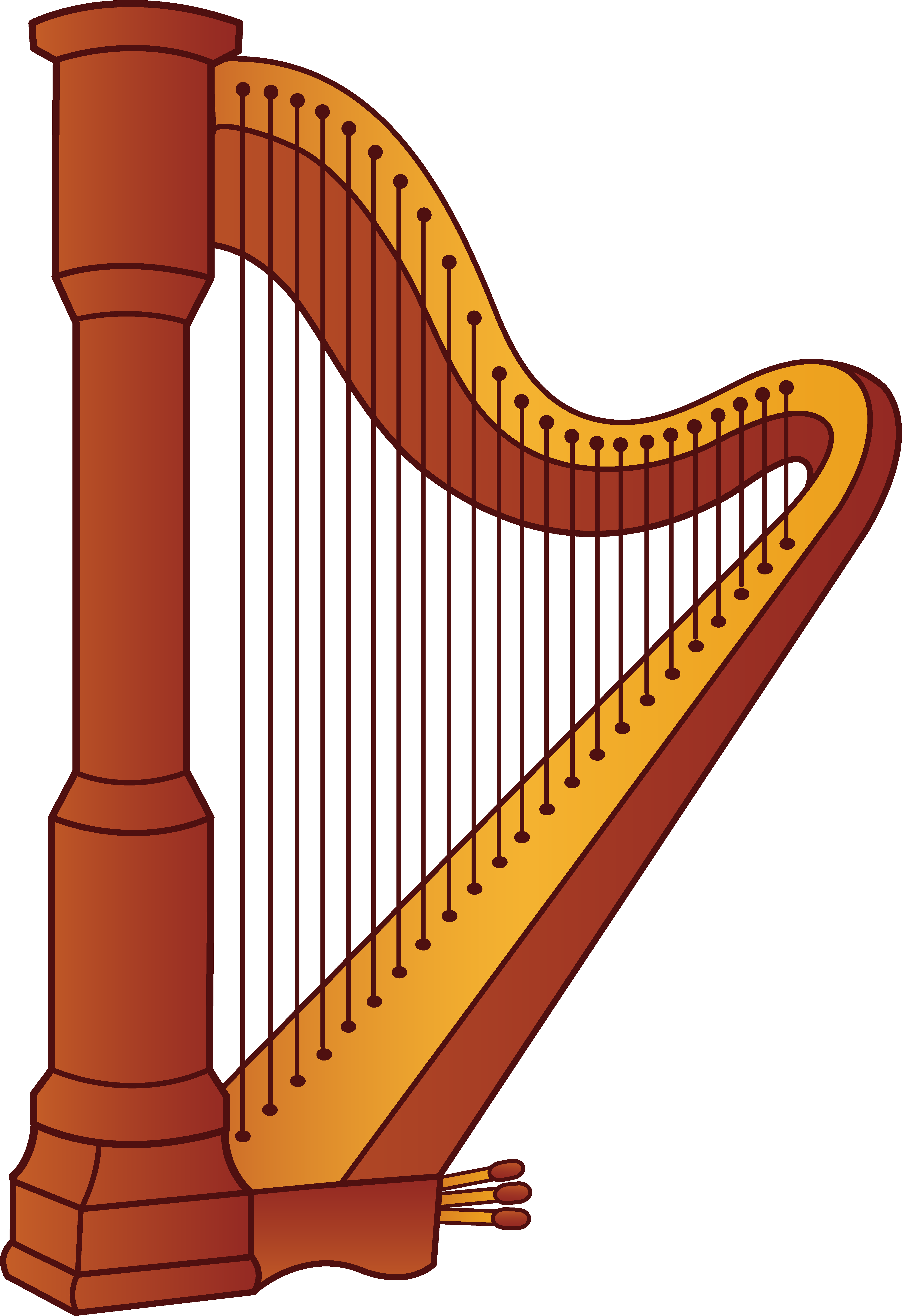 Triangle clipart music instrument Harp Instrument Harp cliparts Clipart