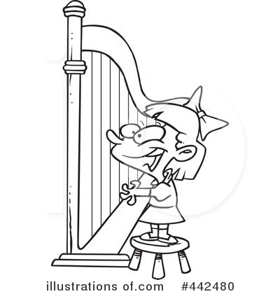Harp clipart black and white Ron by (RF) Clipart Royalty