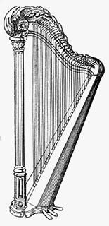 Harp clipart black and white White Free black harp and