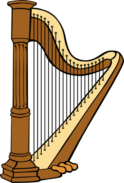 Harp clipart black and white Clipart and Classical Black Harp