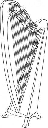 Harp clipart orchestral Me Harp Vector Clip Art